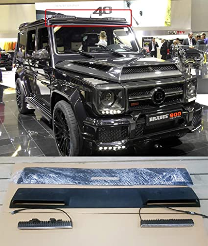 amazon com front roof spoiler with led drl mercedes benz g classamazon com front roof spoiler with led drl mercedes benz g class w463 brabus style 2017 automotive