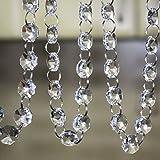 Crystal Clear Acrylic Bead Garland Chandelier Hanging wedding Decoration 33 FT