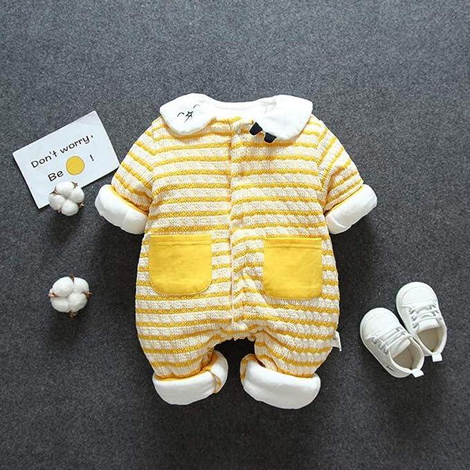 Mameluco Niñas Niños Peleles Sleepsuit Conjunto De Ropa Invierno Niñas Niños Bodies Monos Rayas Conjunto De Ropa Invierno Niñas Niños Bodies Monos Peleles 0-15 Meses (Amarillo, 11-15 M): Amazon.es: Deportes y aire
