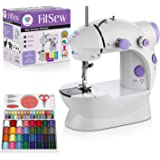 Juvenics Mini Sewing Machine- Small and Travel Friendly Sewing Machine - Foot Pedal- Portable for Small Projects and Quick Re