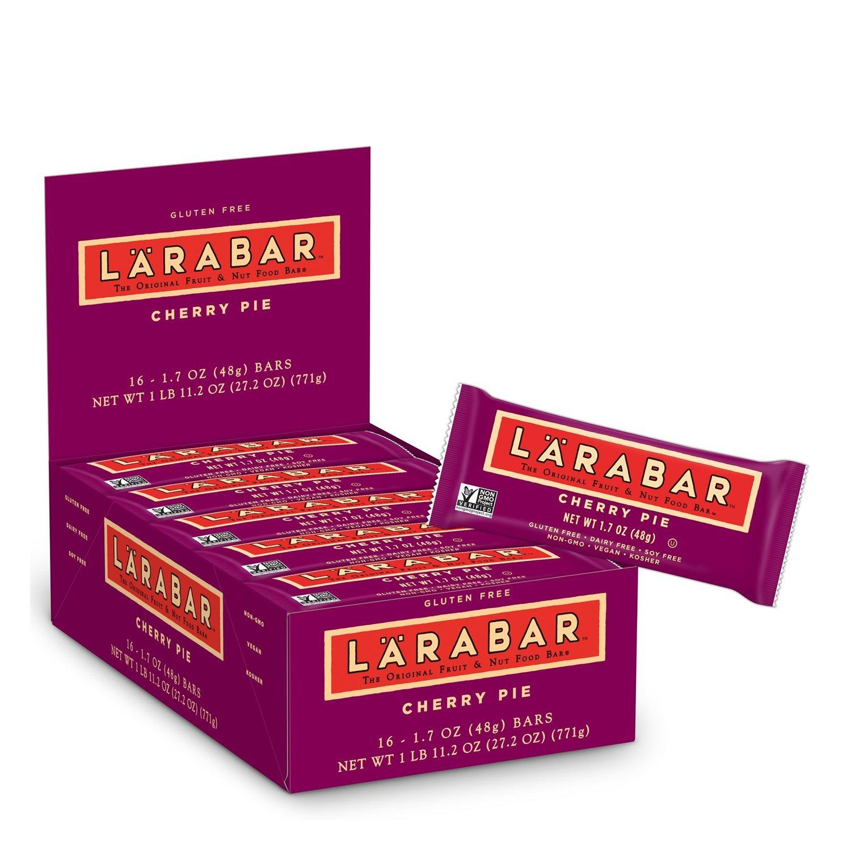 LARABAR, Fruit & Nut Bar, Cherry Pie, Gluten Free, Vegan, Whole 30 Compliant, 1.7 oz Bars (16 Count)