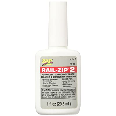 Pacer Technology (Zap) Rail-Zip 2 Track Cleaner and Corrosion Inhibitors, 1 oz: Toys & Games