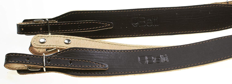 Belti Genuine Leather 80-120 Bass Accordion Straps Dark Brown