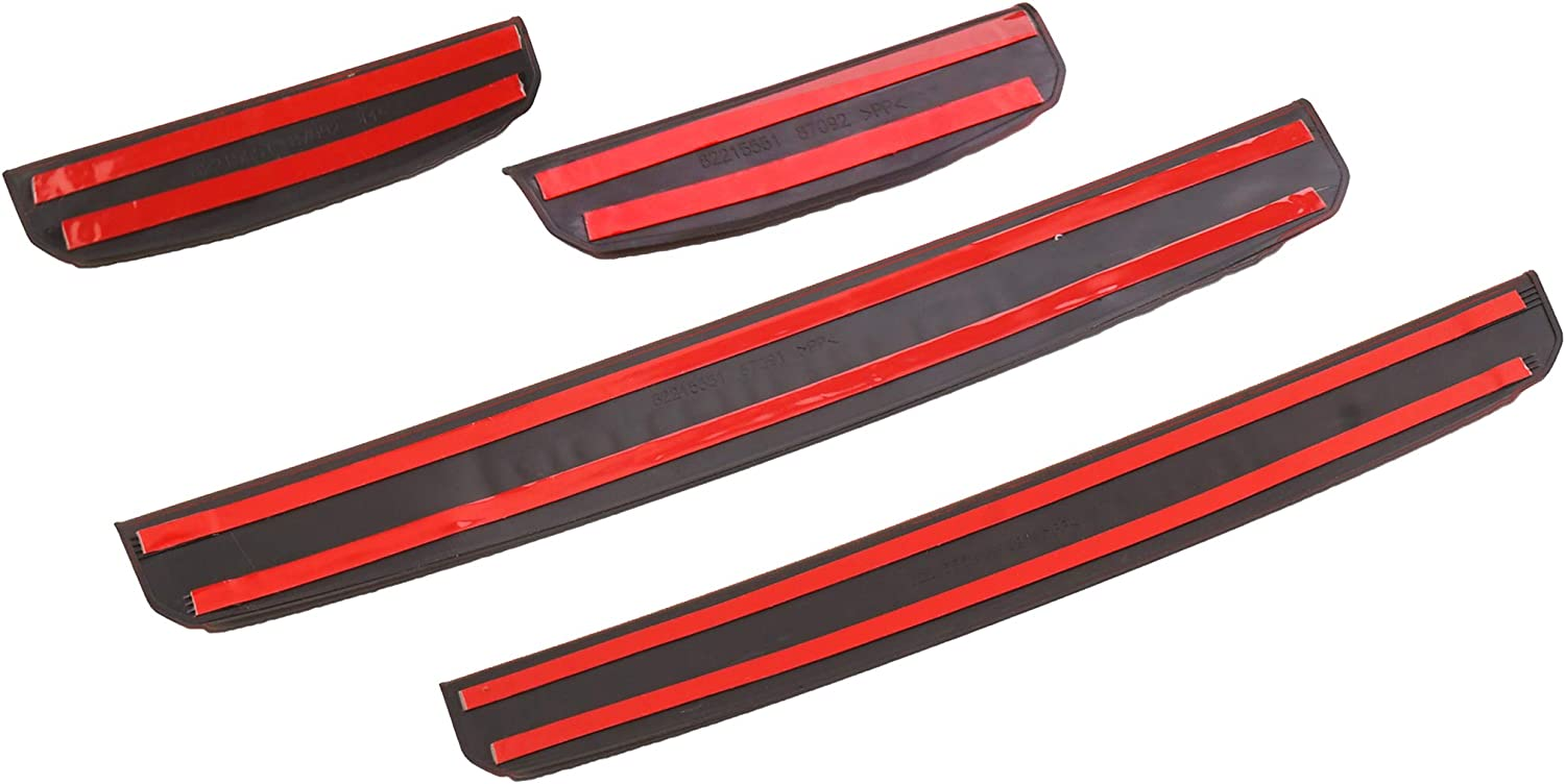 Tecoom Original Door Sill Guards for Jeep Gladiator Entry Guards Black