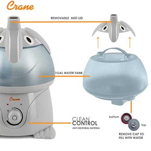 Amazon Crane Usa Filter Free Cool Mist Humidifiers For Kids