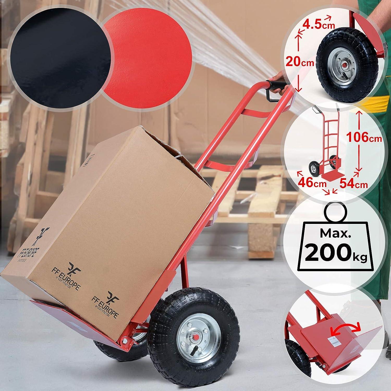 NEW 200kg Heavy Duty Folding Foldable Hand Trolley Sack Truck Cart DB