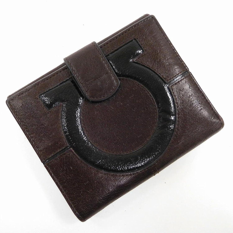 [サルヴァトーレフェラガモ] Salvatore Ferragamo 二つ折り財布 ガンチーニ レザー X11545 中古 B01FM0IJS2
