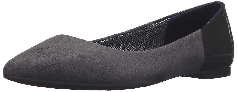 Dr. Scholl's Women's Sidney Flat B01B3RMU60 7 B(M) US Dark Grey Microsuede