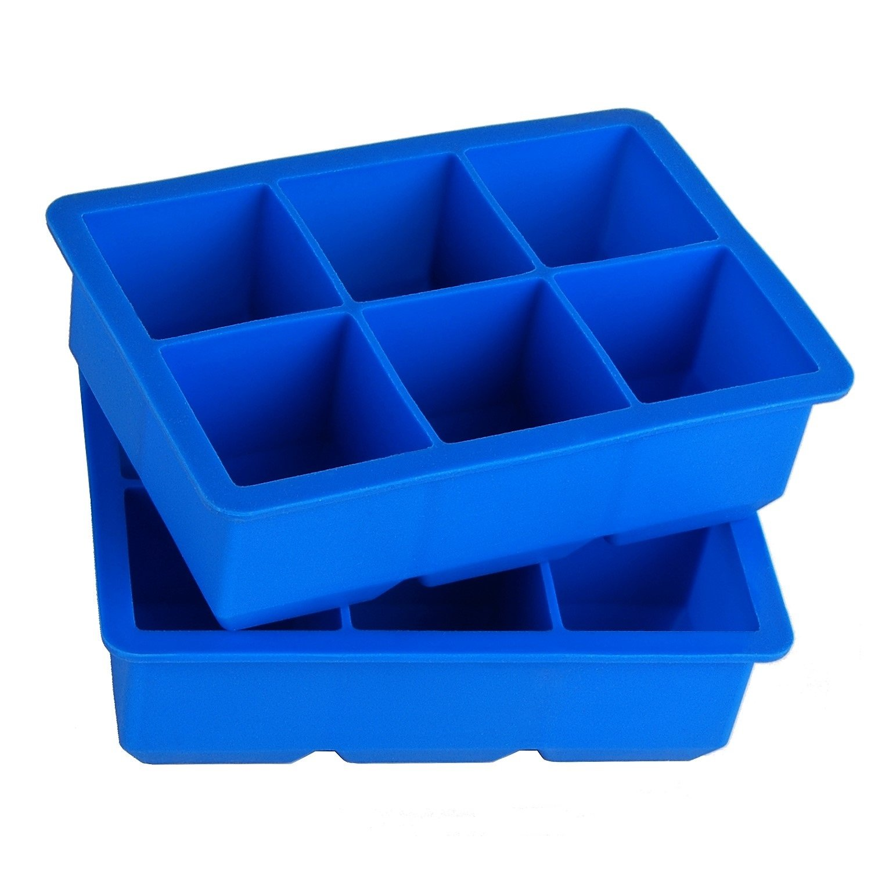 Finnhomy F20IT06OA9 Ice Cube Trays, Orange