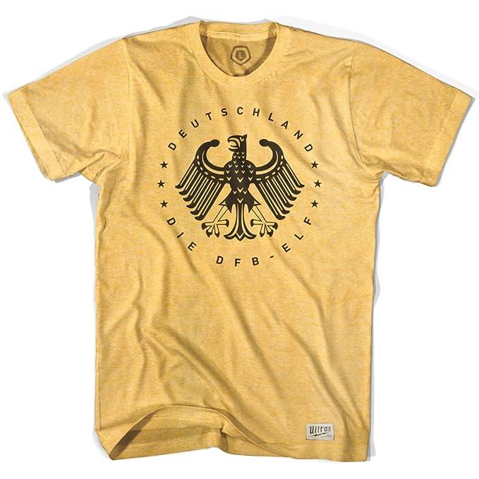 Alemania Deutschland Vintage Eagle camiseta de fútbol Sunshine Heather medium