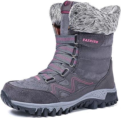AARDIMI Frauen Stiefel halten warm unten Schnee Stiefel