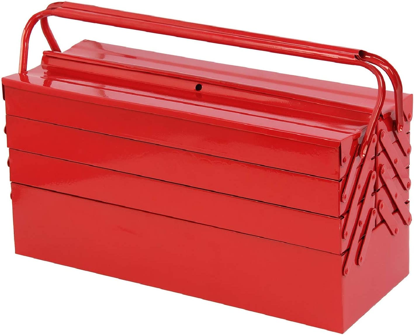 "4 Tier 7 Tray Heavy Duty Home DIY Metal Cantilever Tool Box 21/"" NEW 530mm"