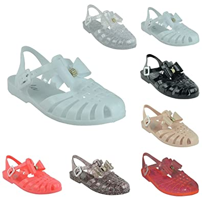 672cac688f25a5 Miss Image UK LADIES WOMENS GIRLS RETRO JELLY SANDALS SUMMER BEACH FLAT  FLIP FLOPS SHOES SIZE
