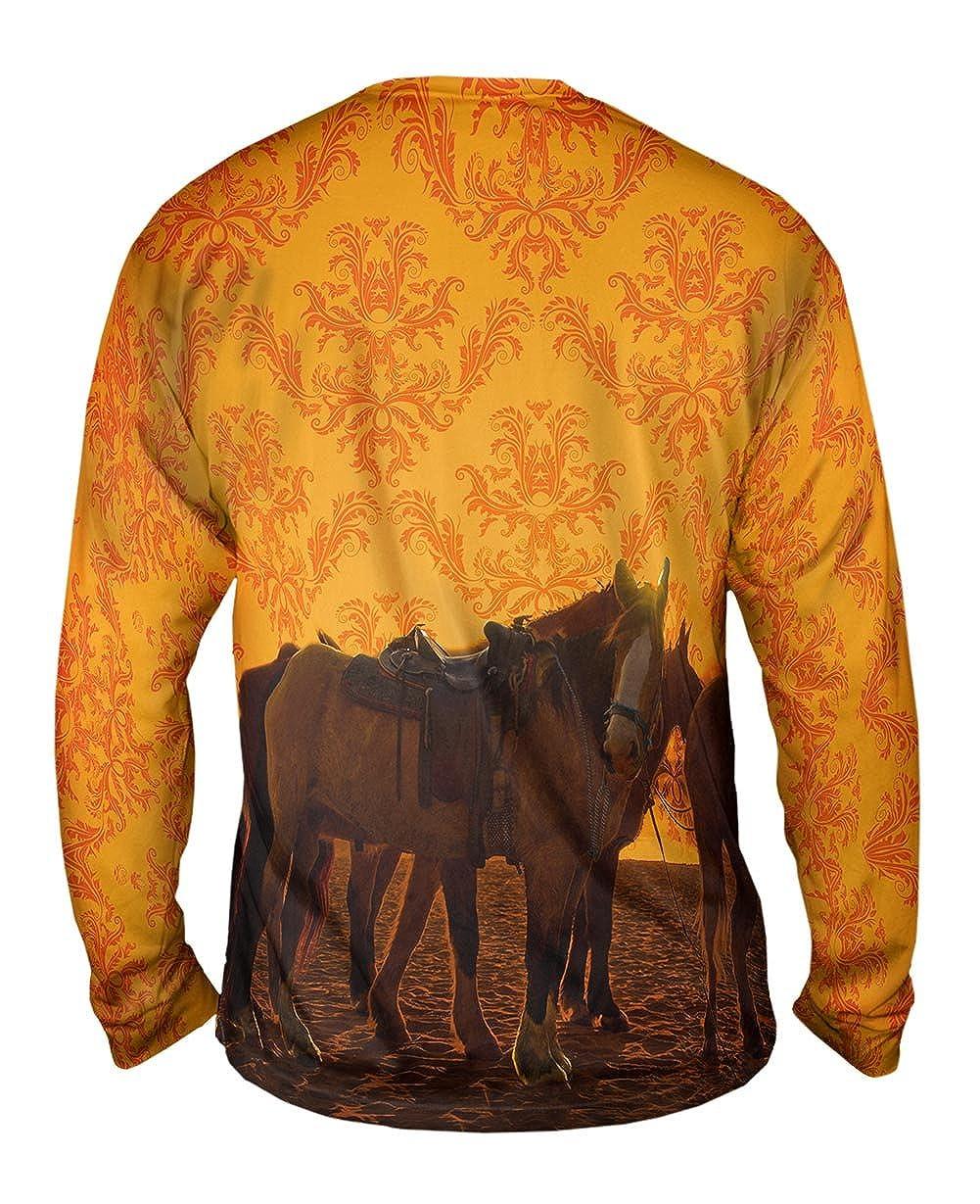 Sand Horse TShirt Yizzam Mens Long Sleeve