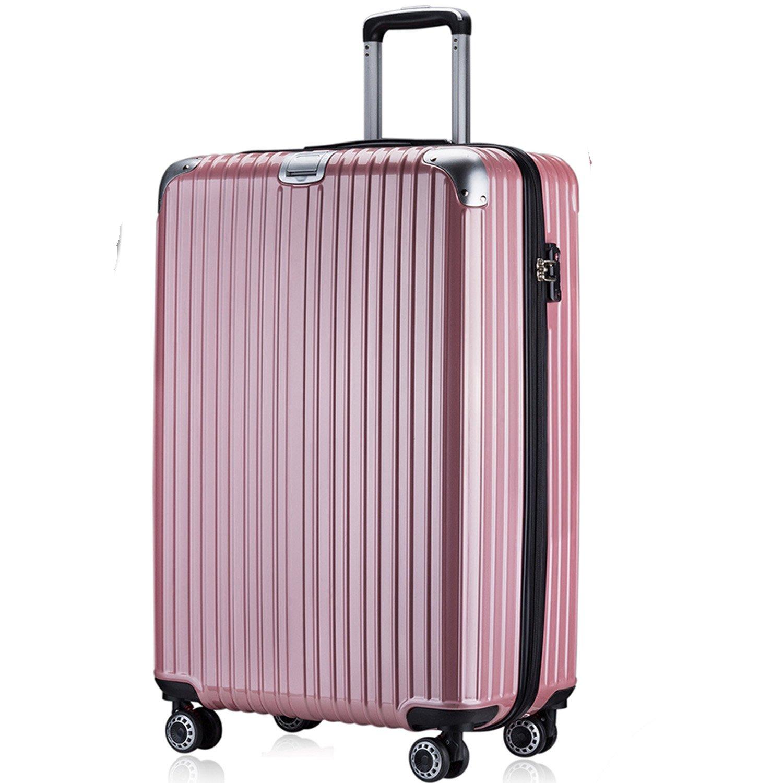 OTT スーツケース 超軽量 TSAロック搭載 ファスナータイプ B077WCC1N8 Lサイズ(7泊以上/5.4KG/93L)|ローズゴールド ローズゴールド Lサイズ(7泊以上/5.4KG/93L)