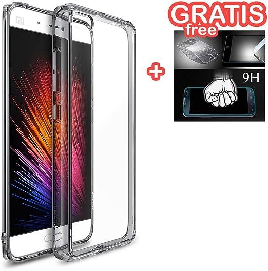 Xiaomi Mi5 - Funda Carcasa Rearth Ringke Fusion Protección AntiChoque [ Transparente ] + Protector * Vidrio GRATIS * para Xiaomi Mi5: Amazon.es: Electrónica