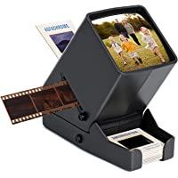 DGODRT Slide Viewer, 3X Magnification and LED Lighted Illuminated Viewing for Slides and 35mm Film Negatives, USB…