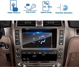 LFOTPP Car Navigation Screen Protector Compatible with 2014-2018 GX 460 8 Inch,Tempered Glass Infotainment Display in-Dash Media Center Touch Screen Protector Scratch-Resistant