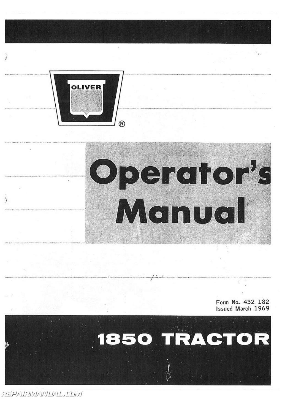 Amazon.com: Operators Manual - OL-O-1850 Oliver 1850 ...
