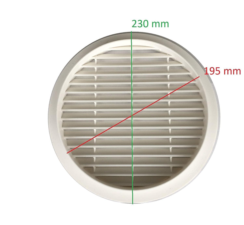Fertiggarage 195-230 mm Garage Original Ersatzteil L/üftungsgitter rund Abluftgitter