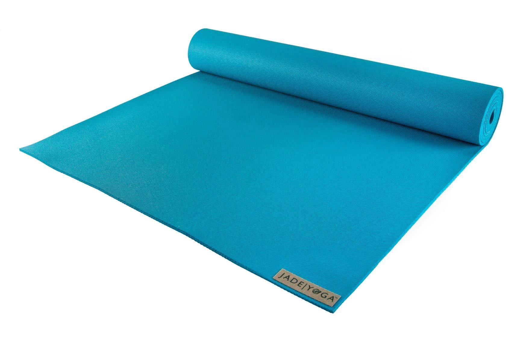 Jade Yoga - Harmony Yoga Mat (3/16'' Thick x 24'' Wide) (Electric Blue, 68'')