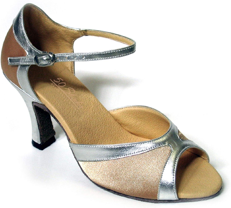 Ballroom Salsa Latin Clubing Latin Wedding 50 Shades of Silver Dance Dress Shoes 1