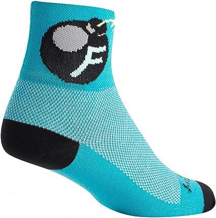 "SockGuy Socks Classic 3/"" Grin S Cycling//Running"