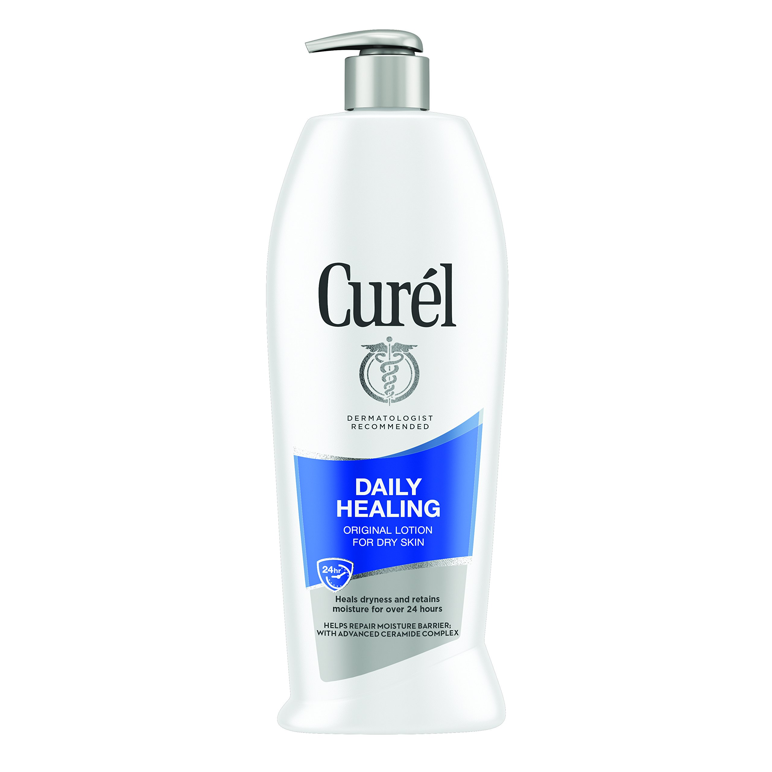 Curél Daily Healing Body Lotion for Dry Skin, Body and Hand Lotion, with Advanced Ceramide Complex, Repairs Moisture Barrier, 20 Fl Oz