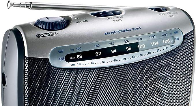 Philips AE2160/04 Radio portátil (plateado con negro)