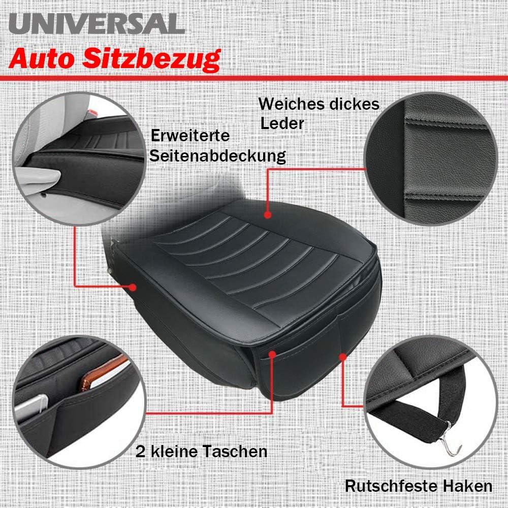 Big Ant Weich Sitzauflagen Auto Autositzbezüge Sitzkissen Auto Sitzauflagen Sitzbezug Für Auto Vordersitze Mit Pu Leder Schwarz 2 Stück Auto