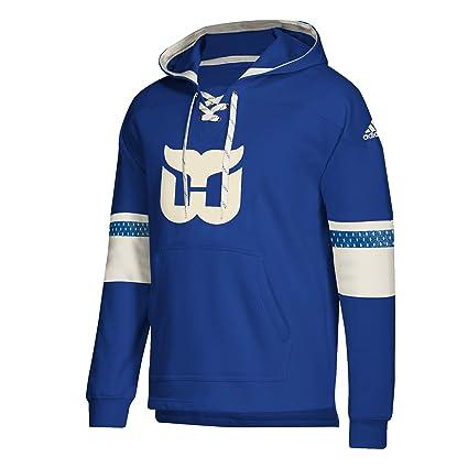 Amazon.com   adidas Hartford Whalers NHL Pullover Jersey Hood ... b7ee2173eb3