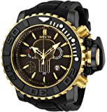 Invicta Men's Marvel Stainless Steel Quartz Watch with Silicone Strap, Black, 30 (Model: 26787)