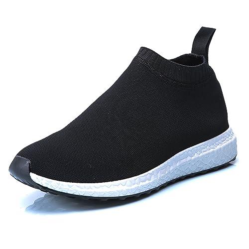 MForshop Scarpe Uomo Ginnastica Sneakers Style Speed Calzino Basso Sportive  Casual a02-1 - Nero 5ff280031c7