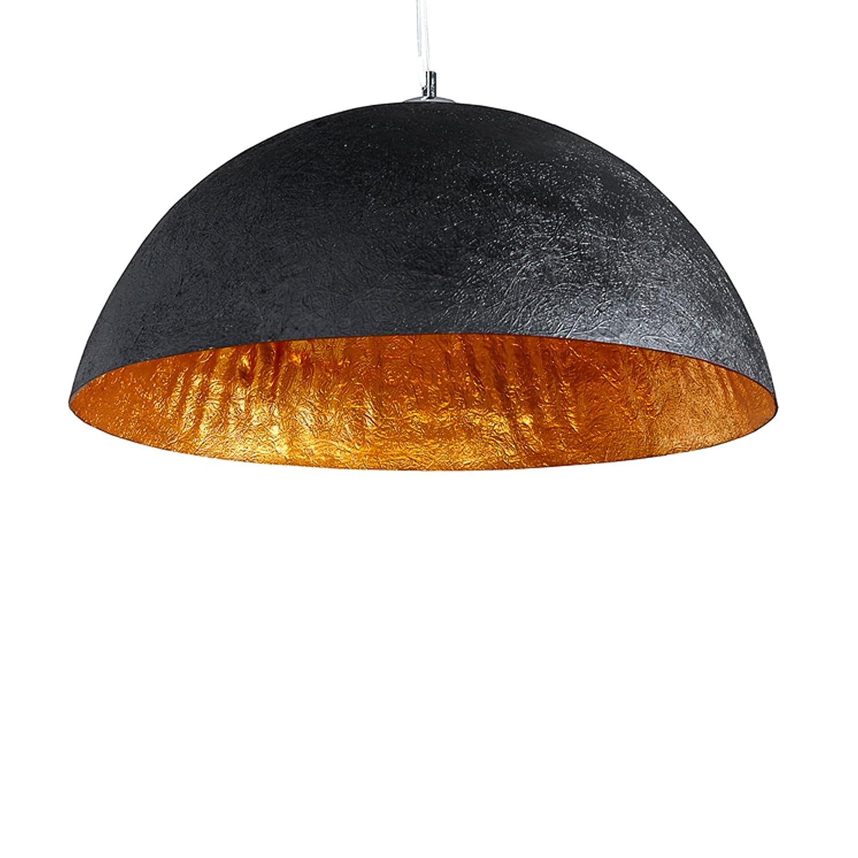 Stylische Hängeleuchte GLOW schwarz gold 50cm [Energieklasse A++] Riess Ambiente