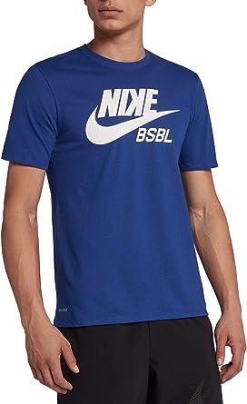 equivocado violento plátano  Amazon.com: Nike BSBL Dry Baseball Camiseta 896456 (Rush Azul/Royal Pulse,  Small): Clothing