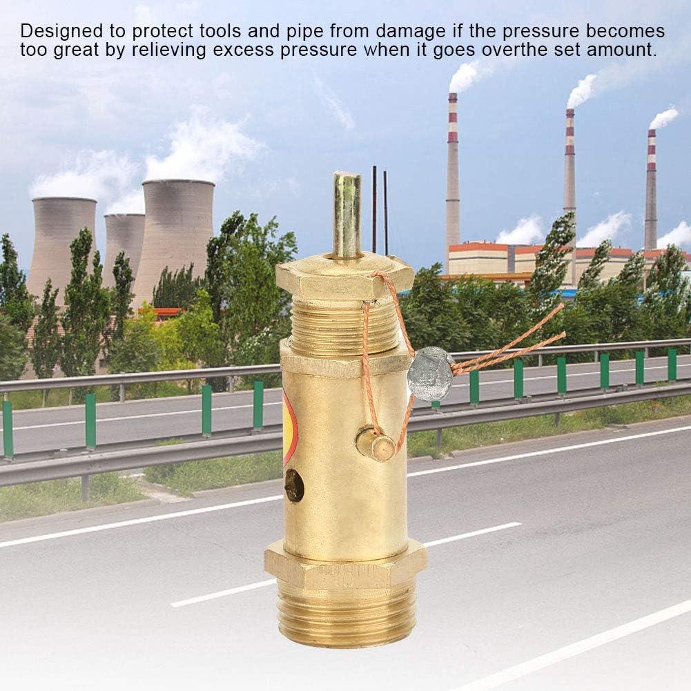 componentes de repuesto del compresor de aire G1 Rodamiento de presi/ón de 10 kg 2 V/álvula de presi/ón de liberaci/ón de seguridad Lat/ón V/álvula de retenci/ón del compresor de aire