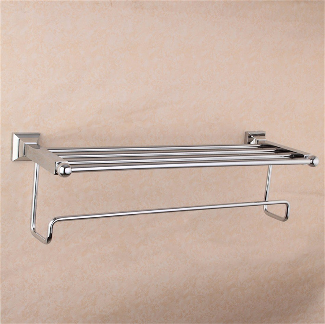 LAONA European style full copper chrome plated square base, bathroom fittings, towel ring, toothbrush cup holder,Towel rack