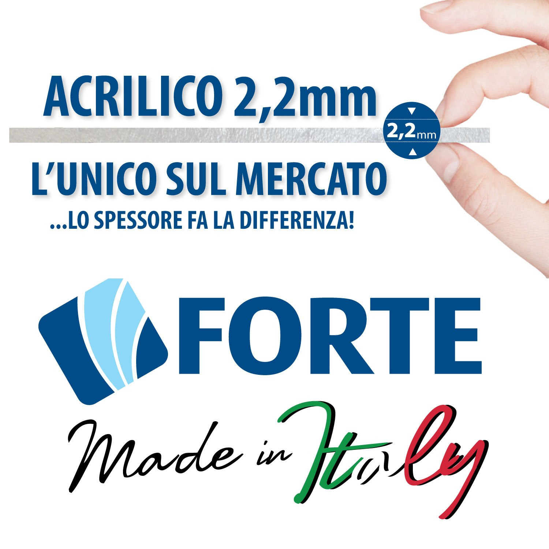 Forte Puerta de Ducha 130 CM de Acrílico Mod. Mercurio con ...