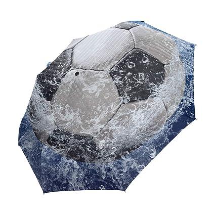 XiangHeFu - Balón de fútbol con Paraguas y Gotas de Agua, Cierre ...