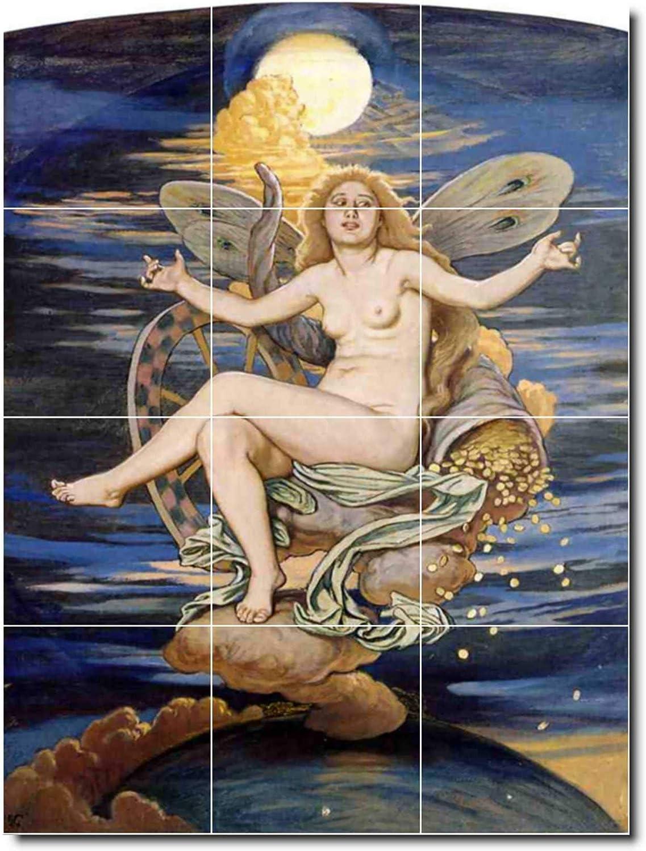 Ceramic Tile Mural Elihu Vedder Mythology Floor Tile Mural 20 12 75 W X 17 H 12 4 25x4 25 Tiles