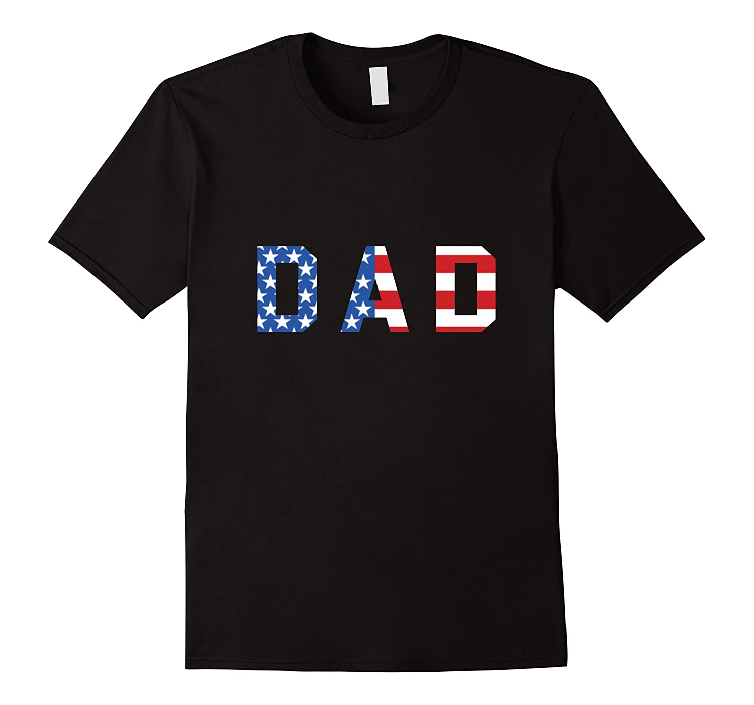 Mens Mens Dad Red White and Blue American Flag Shirt
