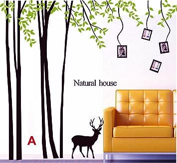 Fesselnd Giant Forest Foto Baum Mit Hirsch Wand Aufkleber Natur Haus Wand Aufkleber  Abnehmbare Art Home Dekorationen