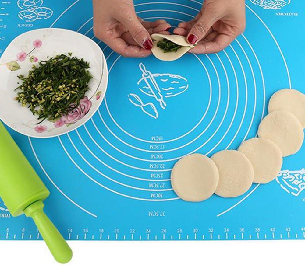 emorias 1/PCS pour boulon de balancier outils g/âteaux Cuisine nouilles P/âtisserie biscuits rouleau de Silicone antiadh/ésive 30/cm