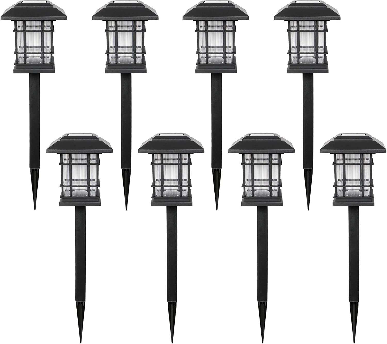 UNNYLLY Solar Pathway Lights Landscape Lights Outdoor Bright Warm Yellow Solar Powered LED Garden Lights for Lawn, Patio, Yard,8Pack