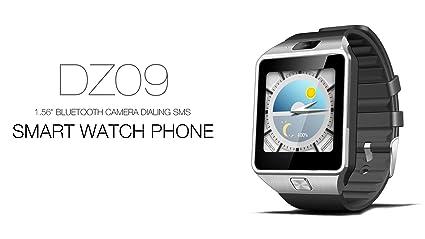 Amazon.com: Reloj Inteligente DEPORTIVO CON CAMARA PARA IPHONE Y ANDROID DIGITAL DE MUJER Y HOMBRE UNISEX RE0107 (SILVER/BLACK): Watches