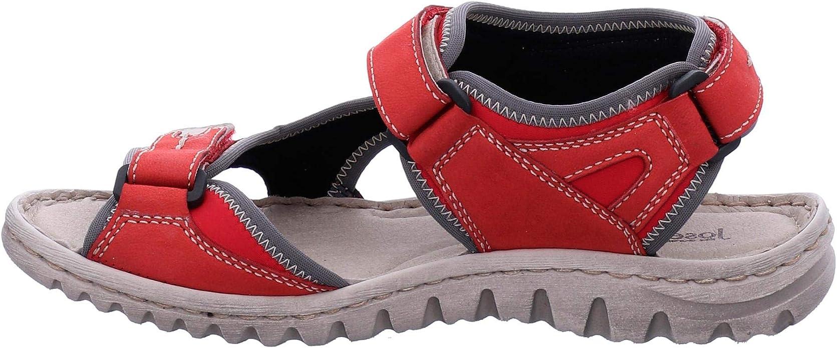 Josef Seibel Lucia 11 Sandales en Grande Taille Rouge 63811 344 400 grandes Chaussures Femmes