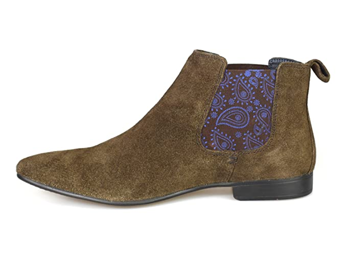 Silver Street Carnaby Brown Suede Mens Chelsea Boots: Amazon.co.uk: Shoes &  Bags