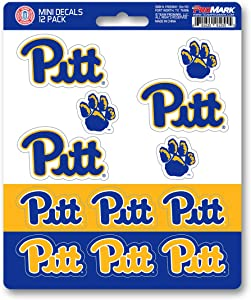 FANMATS University of Pittsburgh 12 Count Mini Decal Pack