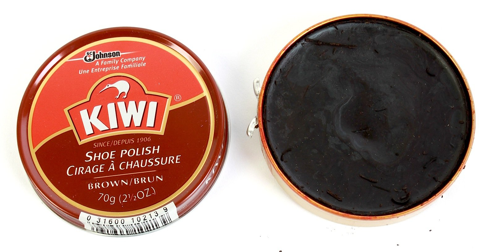 Kiwi Shoe Polish Paste, Brown, 2-1/2 Ounces, 3-pack