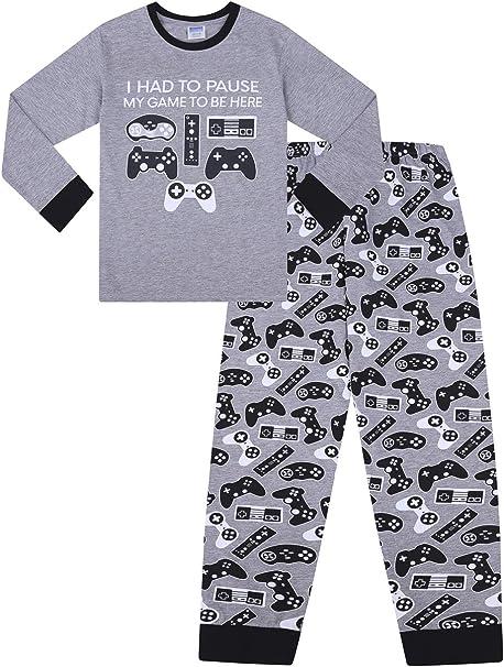 I Paused My Game to Be Here Gaming Grey Black Long Pyjamas